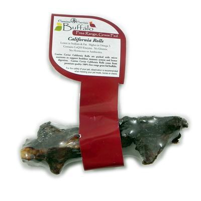 Canine Caviar Free-Range Buffalo Tail Dog Treats 10 pack