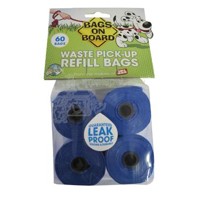 Bags On Board 4 Pack Doggy Waste Clean-up Bags Refill 3 pack