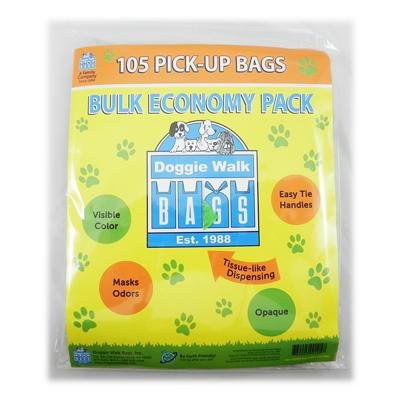 Doggie Walk Bulk Economy Pack 140 Dog Waste Bags 6 pack Click for larger image