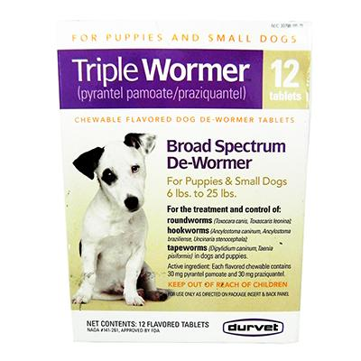 Durvet Triple Wormer Puppy and Small Dog 12 Pack