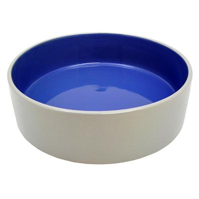 Stoneware Pet Food and Water Crock 9.5 inch 2 pack Click for larger image