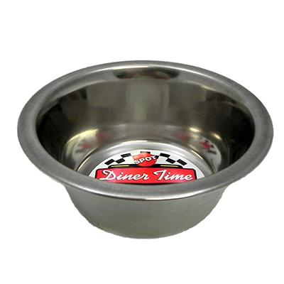Stainless Steel Dog Food/Water Bowl 1 Pint 2 pack Click for larger image
