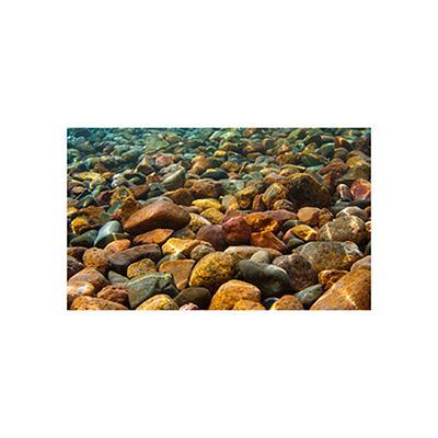 River Rocks 3D Aquarium Background 20 x 12-in.