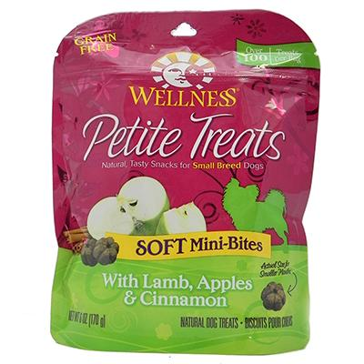 Wellness Petite Treats Lamb Apple 6oz Click for larger image