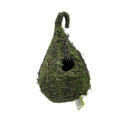 Galapagos Natural Raindrop Moss and Wicker Birdhouse