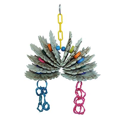 Super Bird Pineapple Twist Bird Toy for Larger Birds