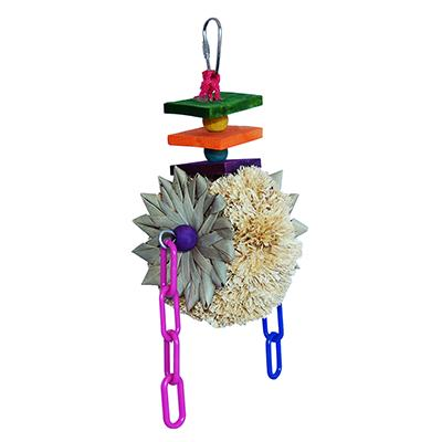 Super Bird Corn Husk Wheel Bird Toy for Sm. to Medium Birds