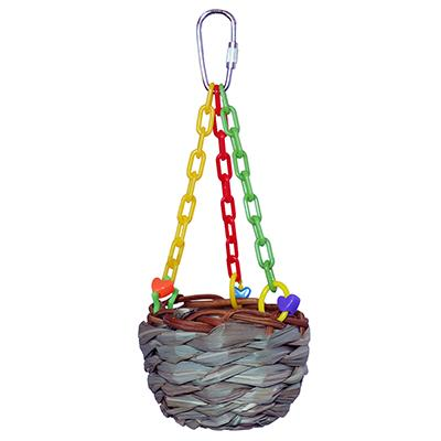 Super Bird Hanging Treat Basket Bird Toy for Smaller Birds