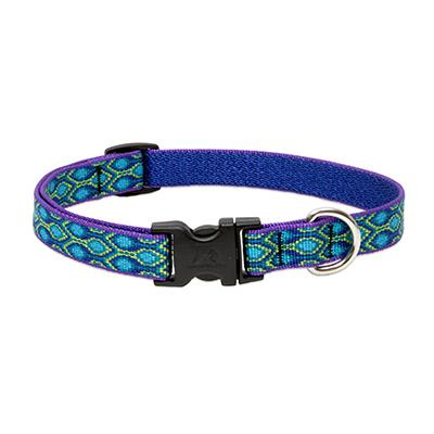 Dog Collar Adjustable Nylon Rain Song 13-22in 3/4 inch width Click for larger image