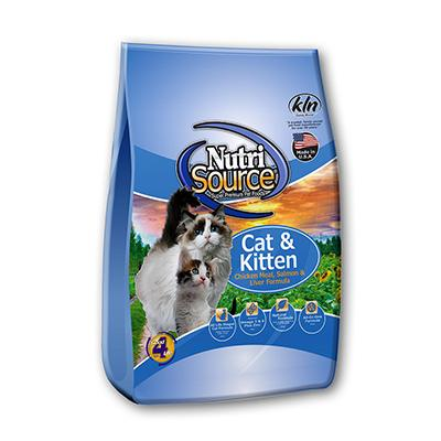 NutriSource Chicken Salmon Cat and Kitten Food 6.6Lb.