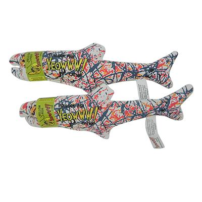Yeowww! Catnip Jackson Pollock Fish Cat Toy 2 Pack