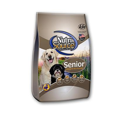 NutriSource Chicken and Rice Senior Dog Food 6.6Lb.