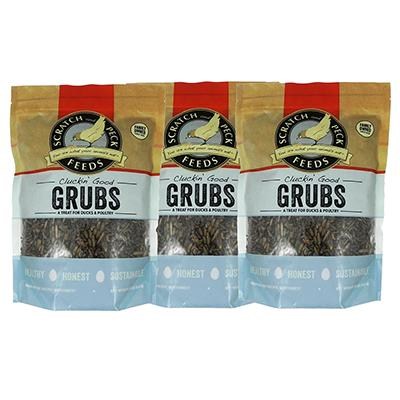 Cluckin Good Grubs Chicken Treat 1.25lb 3 Pack Click for larger image