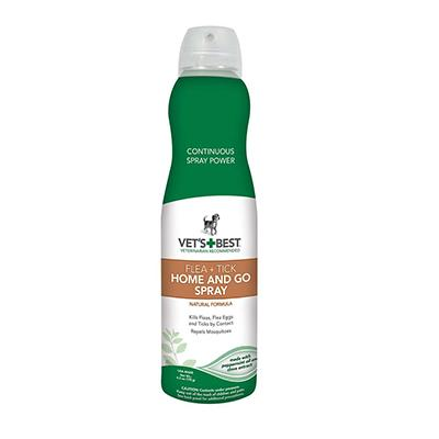 Vets Best Natural Flea Tick Home n Go Spray for Dogs 6oz
