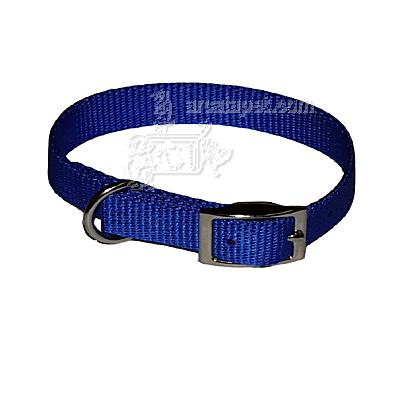 Nylon Dog Collar 5/8 inch Blue 14-inch