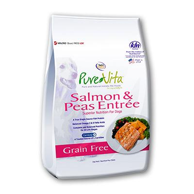 PureVita Dog Grain Free Salmon and Peas Dog Food 5Lb.