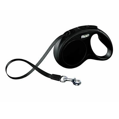 Flexi Medium Small Black Retractable Tape Dog Leash Click for larger image
