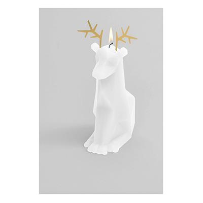 Pyro Pet Candle Dyri White Paraffin Wax Candle with Skeleton