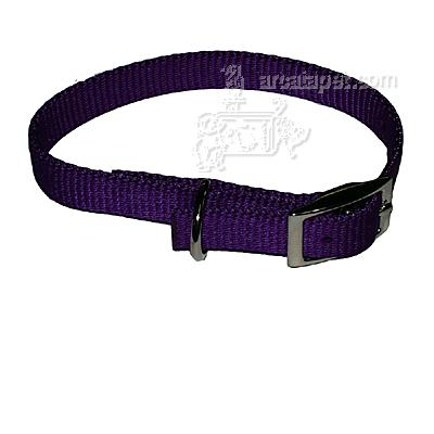 Nylon Dog Collar 5/8 inch Purple 14-inch
