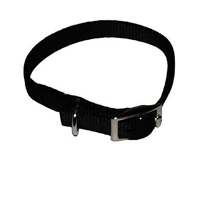 Nylon Dog Collar 5/8 inch Black 16-inch