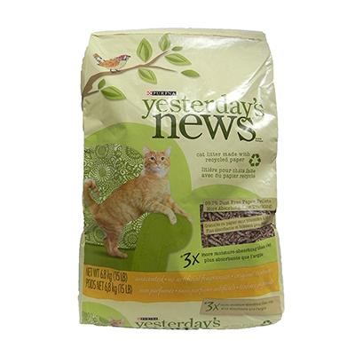 Yesterdays News Recycled Paper Cat Litter  15lb