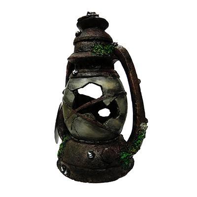 Antique Broken Ship Lantern Aquarium Ornament Medium