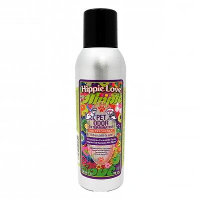 Pet Odor Eliminator Air Freshener Hippie Love 7oz.