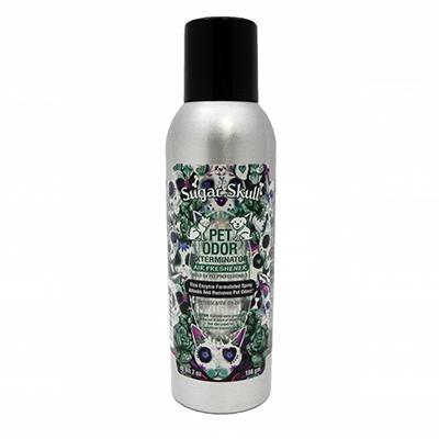 Pet Odor Eliminator Air Freshener Sugar Skull 7oz. Click for larger image