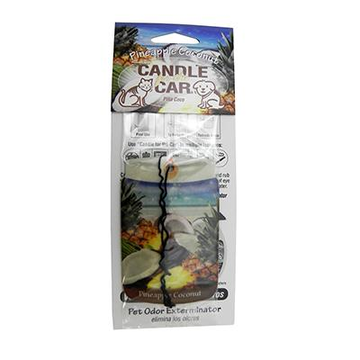 Candle For the Car Pineapple Coconut Pet Odor Eliminator