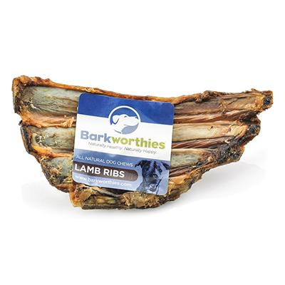 Barkworthies All Natural Lamb Rib Dog Chew