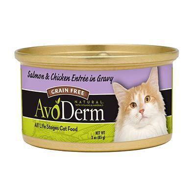 AvoDerm Cat Grain Free Salmon/Ckn Canned Cat Food 3oz each