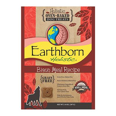 Earthborn Grain Free Dog Biscuits Bison 14oz