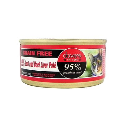 Dave's 95% Beef/Beef Liver Cat 5oz case