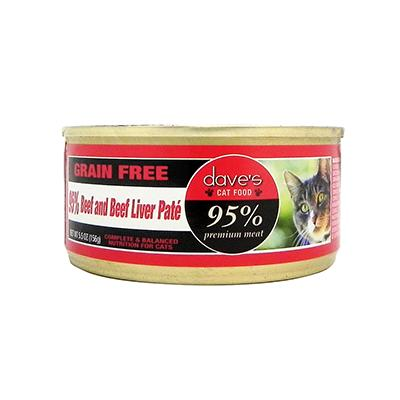 Dave's 95% Beef/Beef Liver Cat 5oz each