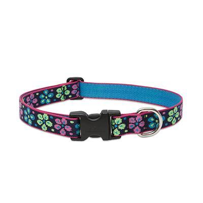 Lupine Nylon Dog Collar Adjustable Flower Power 16-24 inch