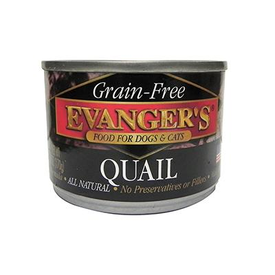 Evangers Quail Canned Dog and Cat Food 6 oz