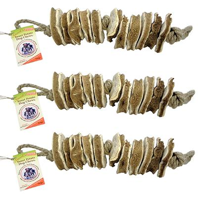 Snook's GMO-Free Sweet Potato Dog Chew Large 3 Pack Click for larger image