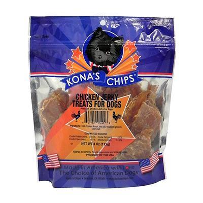 Kona's Chips Chicken Jerky 4oz Click for larger image