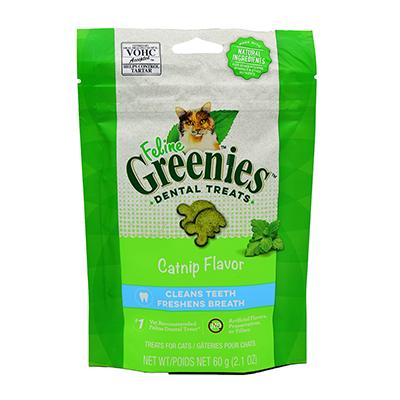 Feline Greenies Catnip Flavor Dental Treats For Cats 2.1 oz Click for larger image