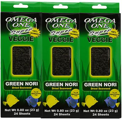 Omega One Super Veggie Green Seaweed Fish Food 24ct. 3 pack Click for larger image