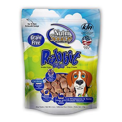 NutriSource Grain Free Rabbit Bites 6oz