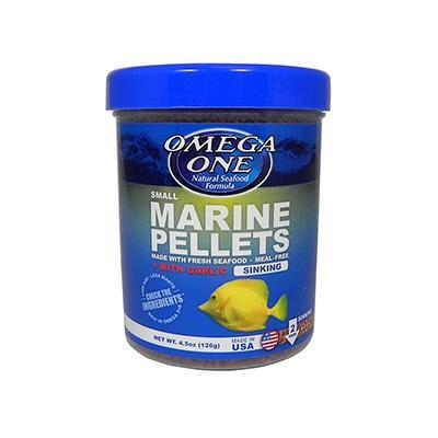 Omega One Garlic Marine Pellets Fish Food 4.25 ounce
