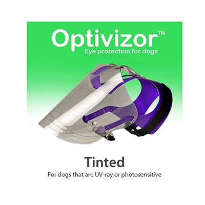 Optivizor Tinted U.V. Ray Eye Protection for Dogs Small Size Click for larger image