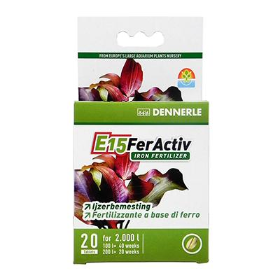E15 FerActiv White Iron Supplement for Aquarium Plants 20pc
