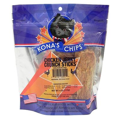 Kona's Chips Chicken Jerky Crunch Sticks 4 oz