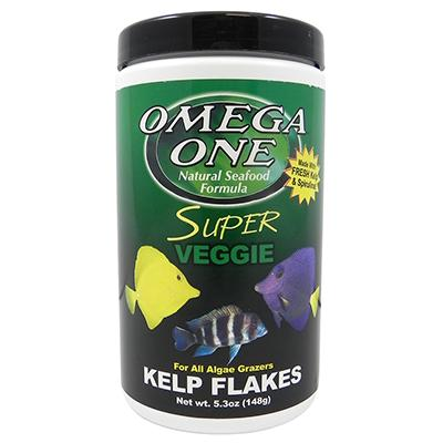 Omega One Super Kelp Flakes Fish Food 5.3 ounce Click for larger image