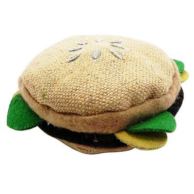 Aussie Naturals Hamburger Eco-Friendly Leather Dog Toy