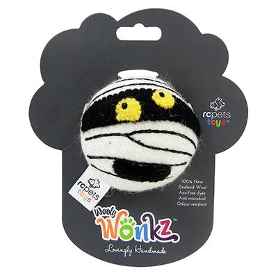 Wooly Wonks Felted Mummy Dog Toy Click for larger image