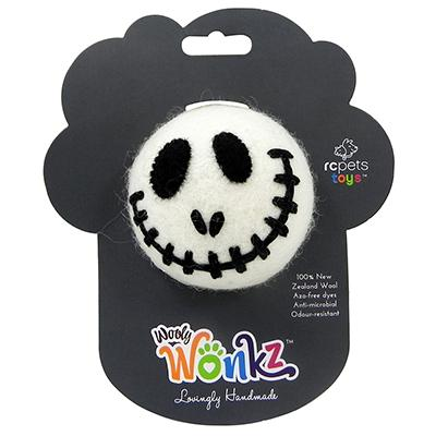 Wooly Wonks Felted Skeleton Dog Toy