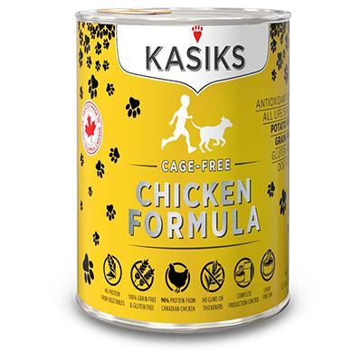 Kasiks Chicken Dog Food 12.2oz can case
